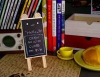 1pc Lovely & Useful Wooden Bear Mini Blackboard Message Memo Note Holder Board