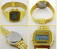 F-91W LED Watch women/brand sports digital watches,gold band stainless steel watch men relogio digital sport luxury montre homme