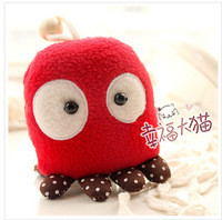 Free shipping super cute creative plush toy cartoon panda/octopus/monkey/cat pendant key ring 9cm 1pc