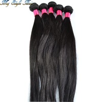 "queen hair products hot selling weft 4 bundles brazilian hair human hair weave 4pcs lot brazillian straight mixed length 10""-36"""