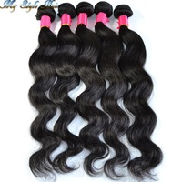4A Grade brazilian virgin hair body wave bundles,100% human hair 3pcs/lot unprocessed hair wavy weaves,my style hair products