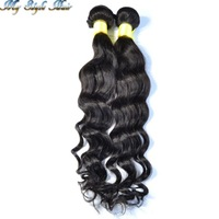 "2 pcs lot peruvian virgin hair loose wave natural color human hair wavy extension,unprocessed hair weave ,10""-30"",queen hair"