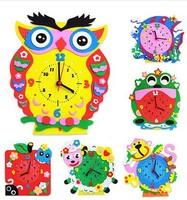 free shipping 10pcs/lot fashion Children Handmade cartoon alarm clock without battery, fashion children best gift