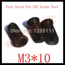 50pcs M3 x 10  Insert Torx Screw for Replaces Carbide Inserts CNC Lathe Tool