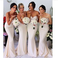 2014 New Arrival Shiny Mermaid Long  Special Occasion Formal Bridesmaid Dress Brides Maid Dress Free Shipping BN144