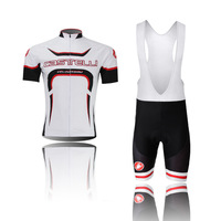 NEW style men's 2014 sportsweas  white clothing ciclismo Bicycle cycling wear bike cycling jerseys +bibs shorts sets