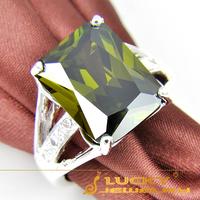 Fashion Classic Style Xmas Gift 925 silver Peridot Zircon Ring For Men R0076 Free Shipping