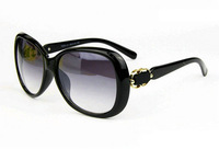 Freeshipping 2014 New Casual Sunglasses Brand Designer Bold Golden Loops Glasses Women Dress Summer Collection Oculos sg232