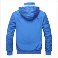 The new 2014 brand men's double sport coats Men's sportswear Casual jacket A hooded coat jacket free shipping