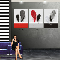 Modern Wall Art Canvas Painting Prints for Home Decoration Wall Pictures Feather 0305