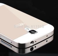 Original SZLF Metal Aluminum Frame Bumper + Arcylic Back Case Cover For Samsung Galaxy S4 I9500 S5 i9600 Case