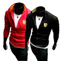 In the spring of 2014 new brand printing Men's men's fleece jacket leisure sport coats men's leisure sports coat Free shipping