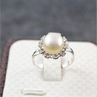 AAA+whiteNatural Pearl Ring