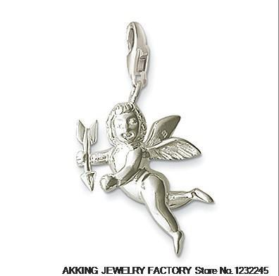 free shipping hot selling hot charm 2014 tms silver factory price ts0024 Cupid love pendants Wholesale