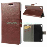 for Huawei Ascend P7 ,Crazy Horse Leather Skin Flip Card Slot Case Stand for Huawei Ascend P7 Free shipping