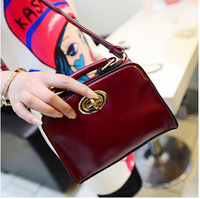 Fashion Wholesale 2014 spring new oil leather handbags retro mini small packet switch lock bag Shoulder Messenger