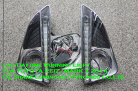 2014 High quality 10W LED DRL Daytime Running Light Foglight For Toyota Reiz Mark X 1:1 Replacement Free Shipping