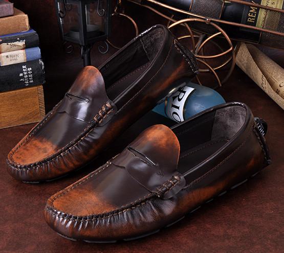 Sapatos confortáveis mudando gradualmente cores Homens sapatos casuais sapatos de couro genuíno homens sapatos Sapatos de Couro Zapatos de couro(China (Mainland))