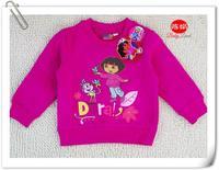 2014 Children Outerwear Red Autumn And Winter DORA Girls Sweatshirt  1-5Y Kids Sports Clothes W200059