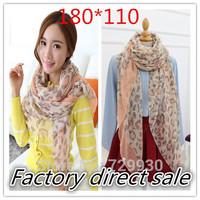 180*110 2014 HOT Sale new style Women's long cotton worldwide Leopard big Winter Scarf,Warm headband shawl FREE SHIPPING