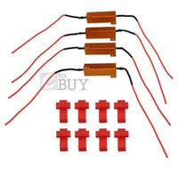 4 X 6ohm 50W Led Load Resistor Fix LED Bulb Fast Flash Turn Signal brake running light Blink