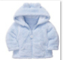 cheapest shipping 2014 new style Coral fleece baby coat newborn hooded top clothes newborn bear style spring autumn outwear