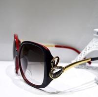 New Swan shape diamond metal frame big women's sunglasses
