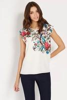 2014 new women clothes women t shirts brand cotton T-shirt women  flowers print T shirt Top Tee DH9151-32