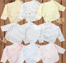 2014 NEW spring autumn newborn baby infant shirt 100% cotton underwear baby half-back anti-wet clothes sleepwear 0-3 months(China (Mainland))