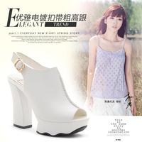 2013 women's shoes fashion open toe platform shoe coarse sandals