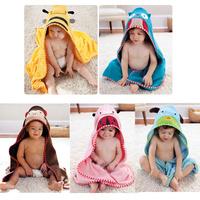 Owl Dog Bee Ladybug Duck Frog and Monkey style kids bath towel and mitt set, 100% cotton soft absorbent children shower blanket