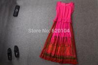 2014 brand new women's spring summer fashion wear European top brand fashion 100% silk dress elegance party dress T18115