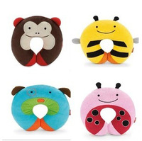 Bee Monkey Owl Ladybug and Dog style neckrest, U shape home car rest pillow, kids travel pillow