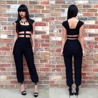 Hot-selling fashion bandage dress ebay hot-selling skirt fashion sexy cutout bm024 jumpsuit