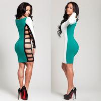 Sexy dress hot-selling skirt sidepiece cutout one-piece dress sexy dress bm012