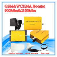 2G 3G Signal ! GSM 900 GSM 2100 Mobile Phone Booster Amplifier 3G GSM Repeater Free Shipping