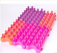 50pcs new 2014 Loom weaver detachable Free combination With the fluorescent jelly bright color knitting machines
