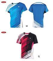 2014 Men Tops T-shirts South Korea  Victor men's table tennis men shirt clothing / Badminton T-shirt