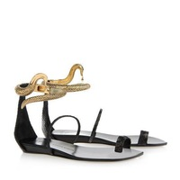 GZ sandals new 2014 spring summer women genuine leather shoes woman flat heel sandal size 35-42