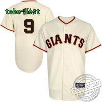 Baseball San Francisco Giants 9 Majestic Brandon Belt Player Replica Jersey - Cream Baseball uniform sale ball Baseball