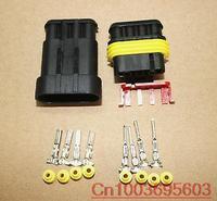 5 sets Wire Connector Plug 4 Pins Waterproof Electrical Car Motorcycle HID ATV