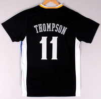 Free Shipping to all country!!#11 Klay Thompson  jersey,Embroidered Logo(all name number stitched!!)