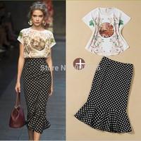 2Pcs Women's Set  short Sleeve O-Neck Tops Fashion Sets Female