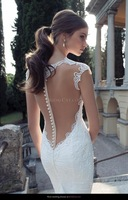 2014 hot&sexy custom-made   hot high quality mermaid  pearls  v-neck wedding dress plus size  fashion  a1000
