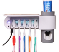 free shipping Toothbrush holder Sanitizer Family  UV Ultraviolet Sanitizer Cleaner Storage Automatic toothpaste dispenser