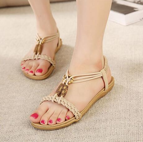 frete grátis, boho tecido plano salto #485 t flip- flops sandálias, nos 5-8. 5, mulheres/sapatas das senhoras(China (Mainland))