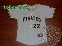 Baseball Youth Pittsburgh Pirates Andrew McCutchen #22 White Jersey Baseball Jerseys embroidery logo Men's Baseball Jerseys