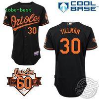 Baseball Baltimore Orioles #30 Tillman Black Men's Baseball Jerseys  embroidery logo free shhipping Size 40-56