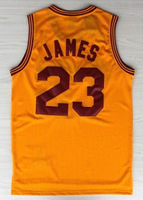 Free Shipping to all country !!! #23 Lebron James throwback jersey Embroidered logo( all name, numbers stitched )