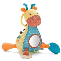 Hug and hide activity toy SKP giraffe safari activity toy baby soft stuffed plush animals with sound and safe mirror